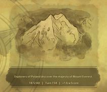 Historic Moment Mount Everest (Civ6)