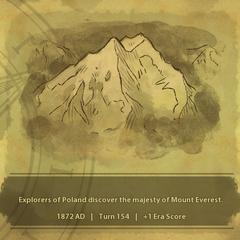 A civilization discovers Mount Everest