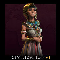 CivilizationVI art leader Cleopatra portrait