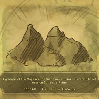 A civilization discovers Torres del Paine