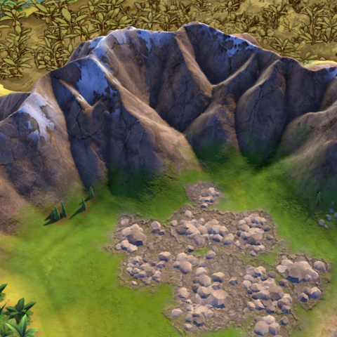 A range of grassland peaks