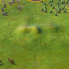 Hills on a Grassland tile, as seen in-game