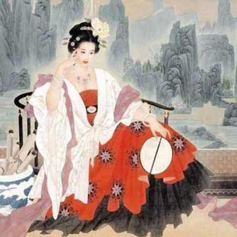 Artist's depiction of a younger Wu Zetian