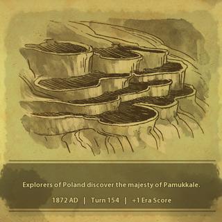 A civilization discovers Pamukkale