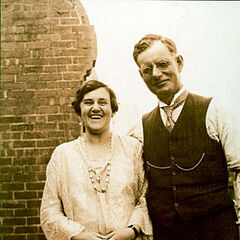 A photograph of John Curtin with his wife Elsie (which appears to have inspired his in-game model)