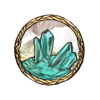 Item earthy aquamarine