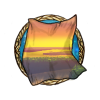 Item creek sunset background