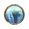 Item dual waterfalls background