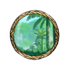 Item cretaceus forest background