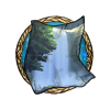 Item hidden waterfall background