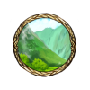 Item green valley background