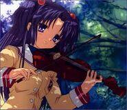 Kotomi tocando el Violín