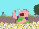 Comiendo huevos
