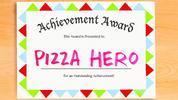 Pizza Hero carta de titulo