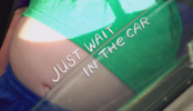 Wait in the car Title Card