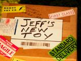 El juguete nuevo de Jeff