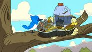 Mordecai and his best friend Trash Boat