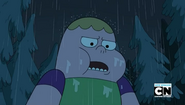 Clarence in the rain