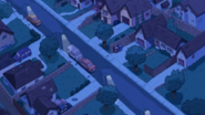 Clarence's Neighborhood at night