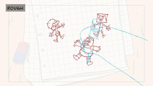 Clarence - Back to School Ident - Animatic Rough animation