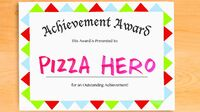 Pizza Hero Title Card