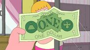 Clarence look at dollar