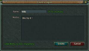 Legion create
