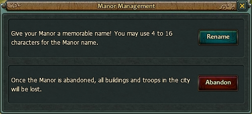 Manor management