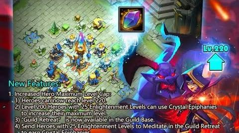 Clash Of Lords 2 New Update, Level 220 Hero Level Cap, Guild Retreat!