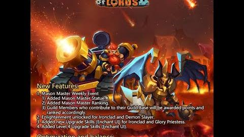 Clash Of Lords 2 New Update- Mason Master Weekly Event!