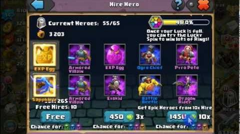 Clash of Lords 2 - Spending 7000 gems - Rolling Sapphirix, Renee Ven and 2 x Dark Rider.