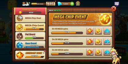 Mega Chip event