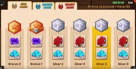 Arena seasonal rewards