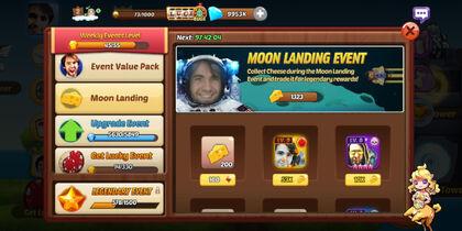 Moon landing event
