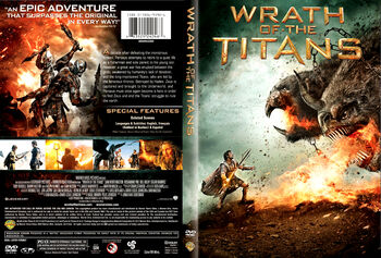 Wrath of the Titans (DVD) art 1 front and back