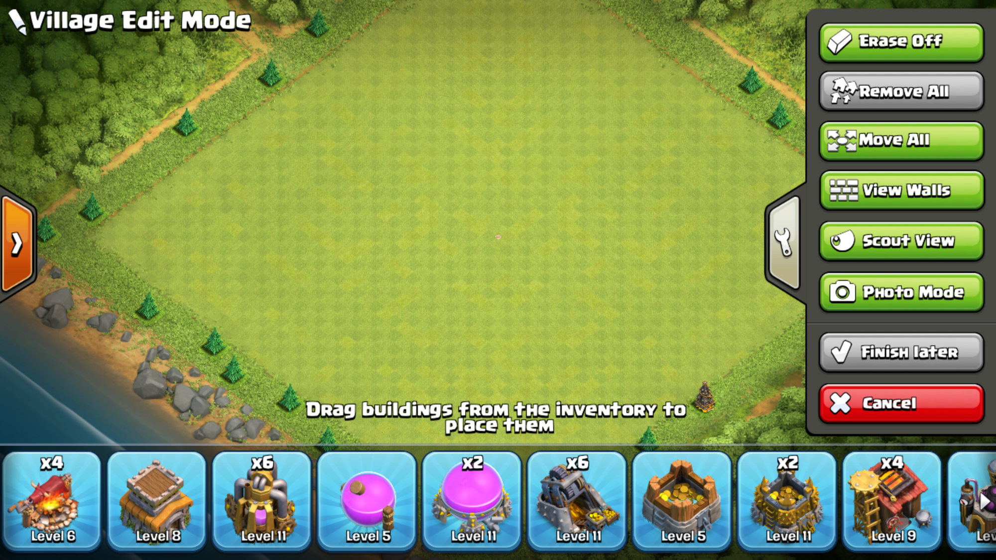 clash of clans city layout level 6