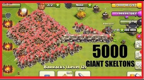 CoC 5000 Giant Skeletons Attack Clash of clans