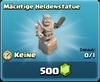 Mächtige Heldenstatue
