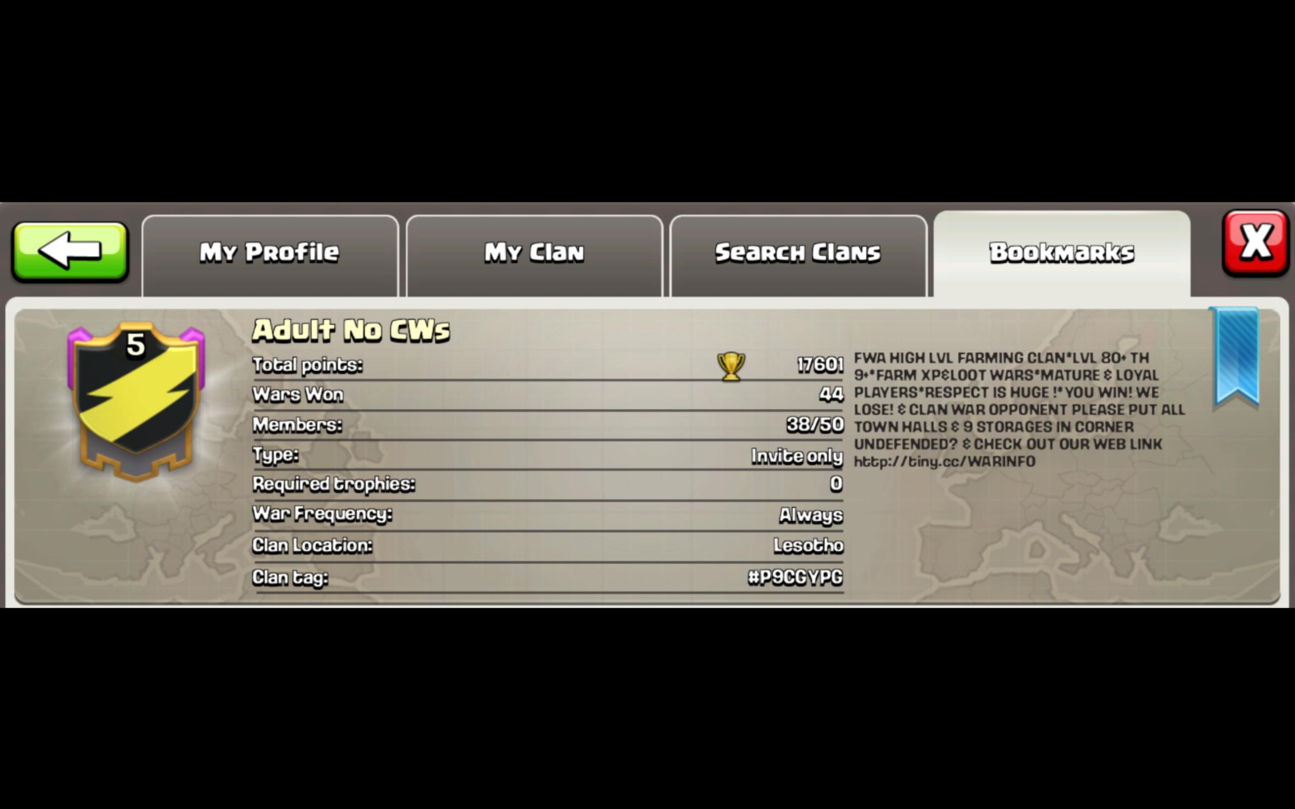 Image Clash Of Clans Adult No CWs Clan Descriptionpng Clash