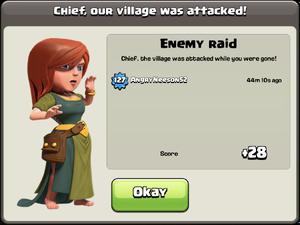 Losing Enemy Raid