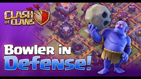 """NEW DARK TROOP - """"BOWLER"""" - IN DEFENSE Sneak Peek 4 Clash of Clans"""