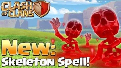 NEW DARK SPELL! SKELETON SPELL Clash Of Clans VILLAGE EDIT MODE HIGHLIGHT