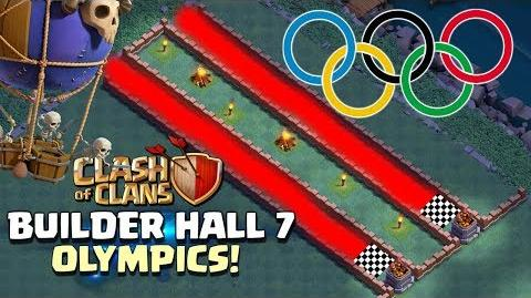 BUILDER HALL 7 OLYMPICS - Clash of Clans Update Olympic Games with New CoC Troop - Drop Ship!
