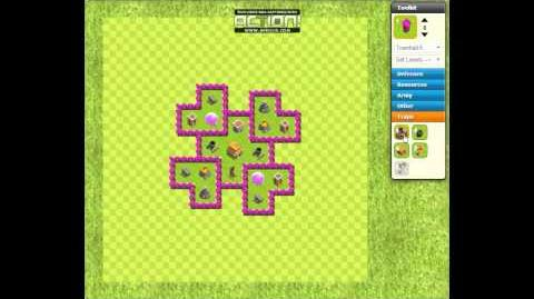 Clash of Clans Layout 2 Town Hall 6 - Trophies