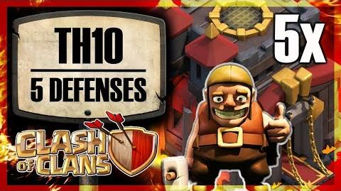 DENIED Town Hall 10 with five defenses Clash of Clans