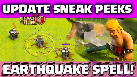 Clash of Clans UPDATE! ♦ Sneak Peeks! ♦ Earthquake Spell! ♦ NO More Dark Elixir Zapping!