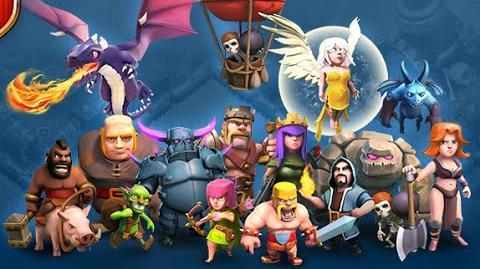 Clash of clans - Неплохая атака драконами 5* в лиге титанов (dragons 5* in the league giants)