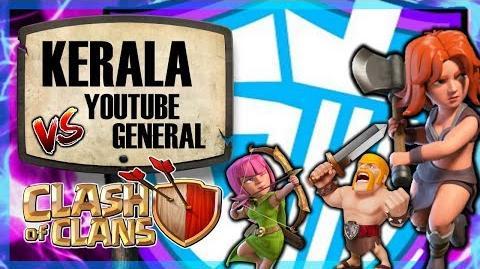 General Tony DEFEATED by KERALA Youtube General vs KERALA Clash of Clans