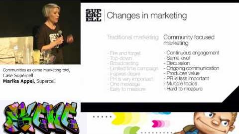 Skene Games Outbreak 4.9.2012, Marika Appell, Supercell, Communities as game marketing tool
