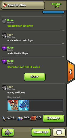 Clan Chat Example
